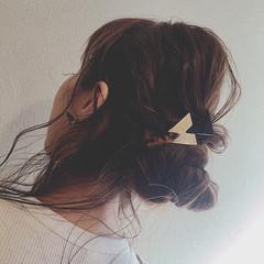 ハイライト セミロング ショート ヘアアレンジ ヘアスタイルや髪型の写真・画像