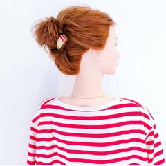 デート 夏 簡単ヘアアレンジ フェミニン ヘアスタイルや髪型の写真・画像