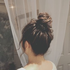 ロング 冬 フェミニン パーティ ヘアスタイルや髪型の写真・画像