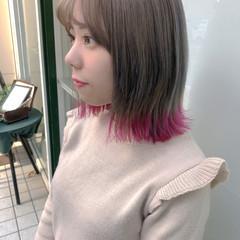 モード 前髪あり グラデーションカラー 裾カラー ヘアスタイルや髪型の写真・画像