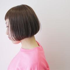 切りっぱなし ワンカール ショート ナチュラル ヘアスタイルや髪型の写真・画像