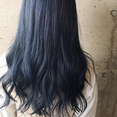 ネイビーカラー ストリート ネイビーブルー ネイビー ヘアスタイルや髪型の写真・画像