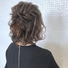 ヘアアレンジ ナチュラル 結婚式 ハーフアップ ヘアスタイルや髪型の写真・画像