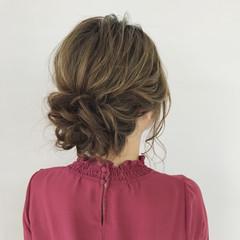 エレガント 結婚式 セミロング 上品 ヘアスタイルや髪型の写真・画像