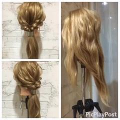 パーティ ヘアアレンジ フェミニン 結婚式 ヘアスタイルや髪型の写真・画像