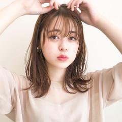 ミディアム モテ髪 大人かわいい デジタルパーマ ヘアスタイルや髪型の写真・画像