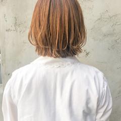 ひし形シルエット 外ハネボブ ミニボブ フェミニン ヘアスタイルや髪型の写真・画像