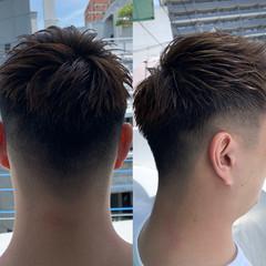 メンズヘア フェードカット アウトドア ストリート ヘアスタイルや髪型の写真・画像