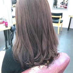 圧倒的透明感 透明感カラー セミロング イメチェン ヘアスタイルや髪型の写真・画像