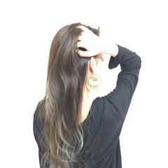グラデーションカラー 外国人風 ナチュラル ロング ヘアスタイルや髪型の写真・画像