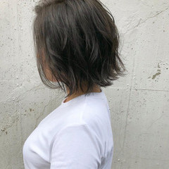 ボブ ナチュラル オフィス 透明感 ヘアスタイルや髪型の写真・画像