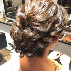 涼しげ ミディアム フェミニン お祭り ヘアスタイルや髪型の写真・画像
