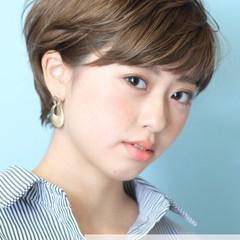 ショート ショートヘア イルミナカラー インナーカラー ヘアスタイルや髪型の写真・画像