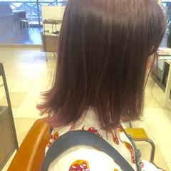 モード グラデーションカラー ピンク ボブ ヘアスタイルや髪型の写真・画像
