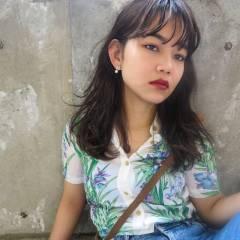 ストリート パンク ウェットヘア 春 ヘアスタイルや髪型の写真・画像