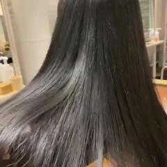 ロング ストレート ツヤ髪 髪質改善 ヘアスタイルや髪型の写真・画像