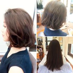 黒髪 ナチュラル 大人かわいい フェミニン ヘアスタイルや髪型の写真・画像