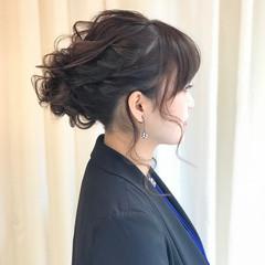 セミロング デート ナチュラル 黒髪 ヘアスタイルや髪型の写真・画像