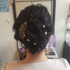 フェミニン 結婚式 ボブ ロープ編み ヘアスタイルや髪型の写真・画像