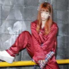 デート カッパー 艶髪 ガーリー ヘアスタイルや髪型の写真・画像