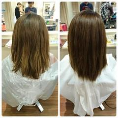 縮毛矯正 ストレート 大人かわいい パーマ ヘアスタイルや髪型の写真・画像