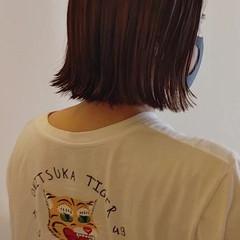 外ハネボブ ボブヘアー ミニボブ ナチュラル ヘアスタイルや髪型の写真・画像