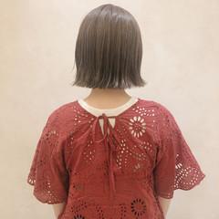 デート オフィス ボブ アウトドア ヘアスタイルや髪型の写真・画像