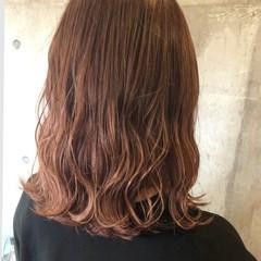 ブラットオレンジ オレンジベージュ ストリート オレンジブラウン ヘアスタイルや髪型の写真・画像