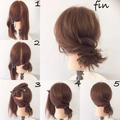 ショート セミロング ヘアアレンジ 大人女子 ヘアスタイルや髪型の写真・画像