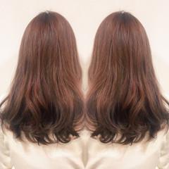 グラデーションカラー ピンクアッシュ 春 ロング ヘアスタイルや髪型の写真・画像