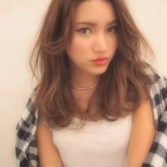 モテ髪 ミディアム ゆるふわ 大人かわいい ヘアスタイルや髪型の写真・画像