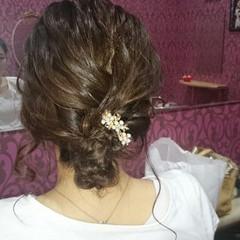エレガント 編み込み 上品 結婚式 ヘアスタイルや髪型の写真・画像