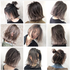 グレージュ 外国人風 ヘアアレンジ アッシュ ヘアスタイルや髪型の写真・画像