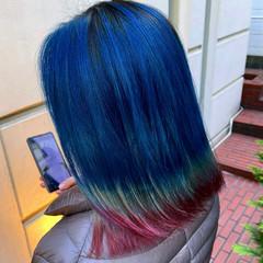 グラデーションカラー グラデーション ミディアム ブリーチオンカラー ヘアスタイルや髪型の写真・画像