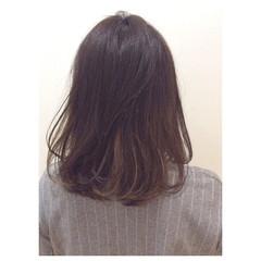 グラデーションカラー ミディアム 大人かわいい モード ヘアスタイルや髪型の写真・画像