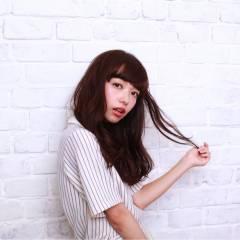 暗髪 愛され ゆるふわ フェミニン ヘアスタイルや髪型の写真・画像
