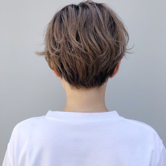 ミニボブ ショートヘア ベリーショート ナチュラル ヘアスタイルや髪型の写真・画像