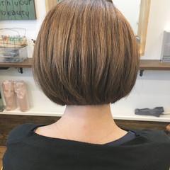 ナチュラル コンパクトショート ミニボブ 大人女子 ヘアスタイルや髪型の写真・画像