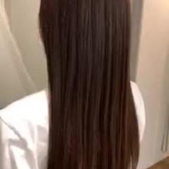 大人かわいい ストレート 縮毛矯正 ロング ヘアスタイルや髪型の写真・画像