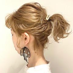 ボブ ミルクティーベージュ ハイトーン ナチュラル ヘアスタイルや髪型の写真・画像