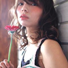 大人かわいい ボブ ハイライト フェミニン ヘアスタイルや髪型の写真・画像