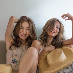 外国人風 大人女子 アンニュイ グラマラス ヘアスタイルや髪型の写真・画像
