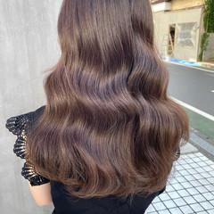 透明感カラー ベージュ セミロング ナチュラル ヘアスタイルや髪型の写真・画像