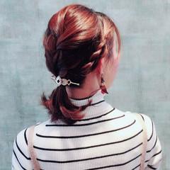 ナチュラル 簡単ヘアアレンジ マジェステ ヘアアレンジ ヘアスタイルや髪型の写真・画像