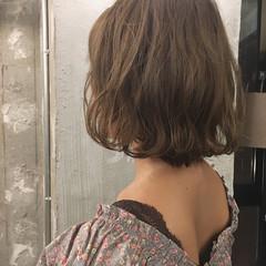 ボブ ナチュラル リラックス 透明感 ヘアスタイルや髪型の写真・画像