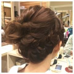 ヘアアレンジ アップスタイル 夏 ガーリー ヘアスタイルや髪型の写真・画像