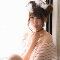 ミディアム アップスタイル 大人かわいい ヘアアレンジ ヘアスタイルや髪型の写真・画像