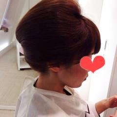 ヘアアレンジ ミディアム 卵型 和装 ヘアスタイルや髪型の写真・画像