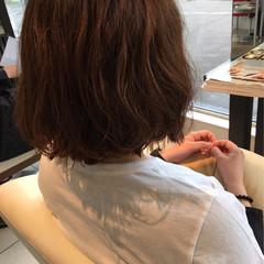 ブラントカット ゆるふわ 外国人風 パーマ ヘアスタイルや髪型の写真・画像