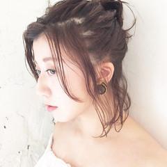 ヘアアレンジ 大人かわいい ショート ルーズ ヘアスタイルや髪型の写真・画像